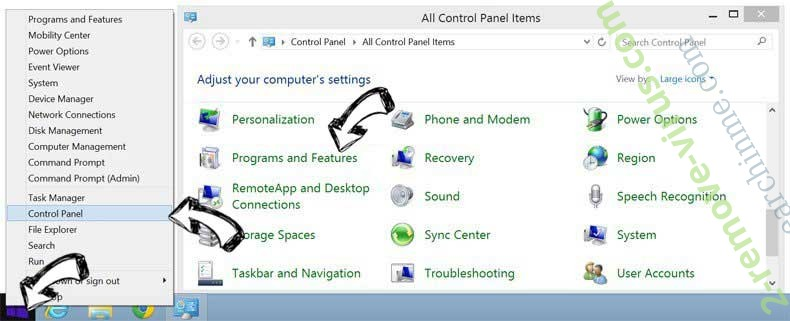 Delete Guardian Search Protector from Windows 8