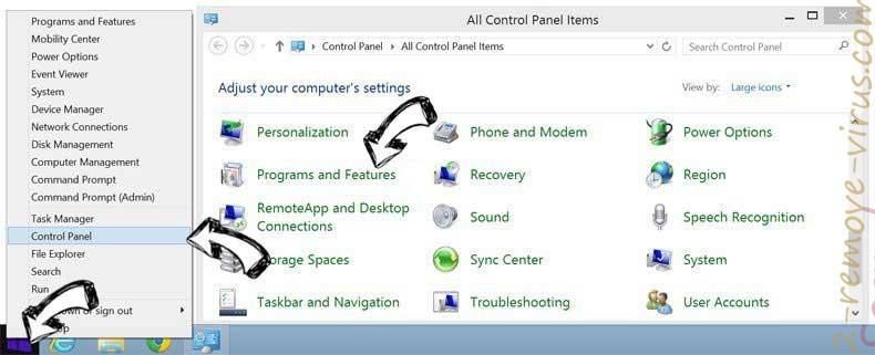 Delete Serch16.biz from Windows 8