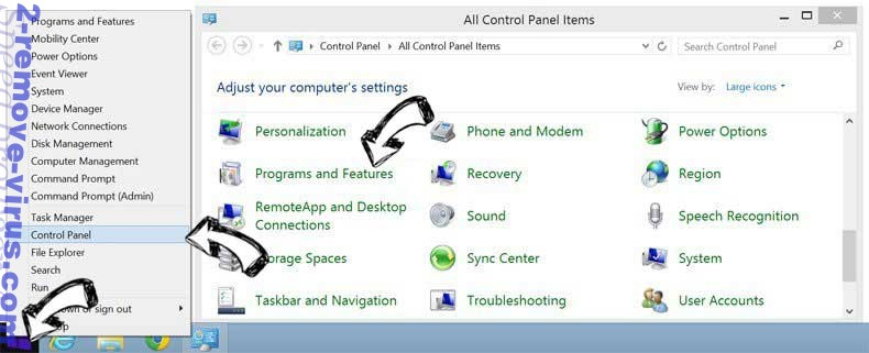 Delete Mobi.tendoes.com from Windows 8
