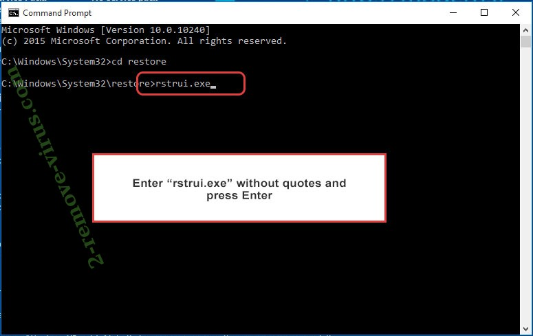 Delete GERO extension virus - command prompt restore execute