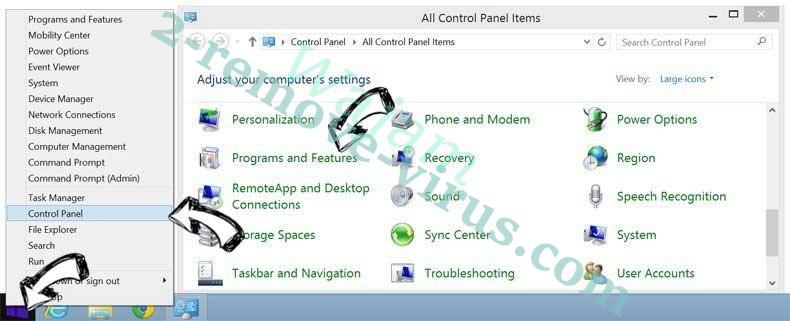 Delete Search.gilpierro.com from Windows 8