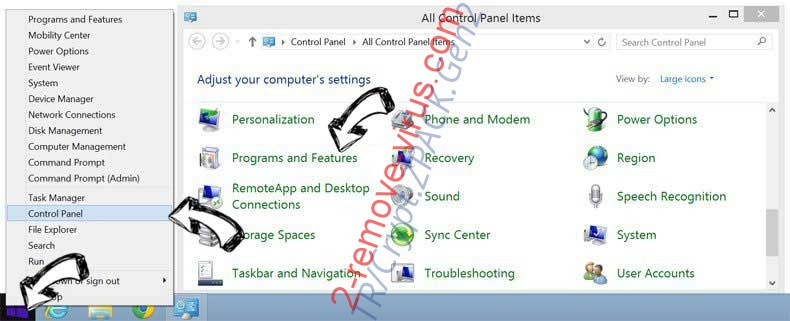 Delete Umobile-security.com from Windows 8