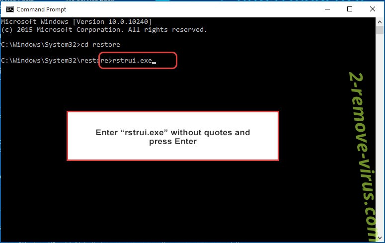 Delete _Mark_ Mak ransomware - command prompt restore execute