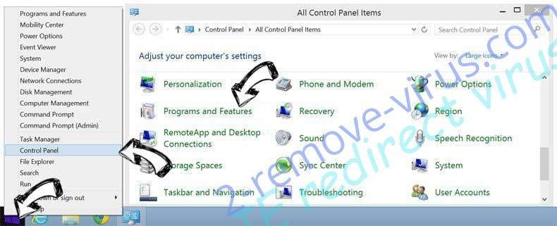 Delete ZenSearch.com from Windows 8