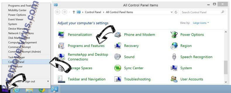 Delete MyFashionTab Toolbar from Windows 8