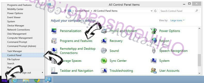 Delete PDFConverterSearch4Free from Windows 8