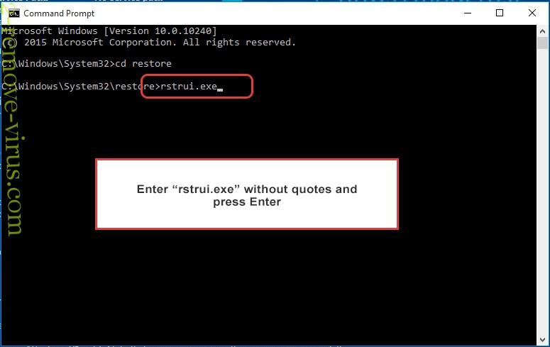Delete FickerStealer - command prompt restore execute