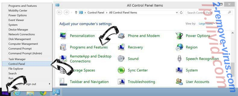 Delete Special-update.info from Windows 8