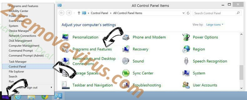 Delete convertisseur-youtube-mp3.net from Windows 8