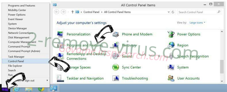 Delete incognitosearchhome virus from Windows 8