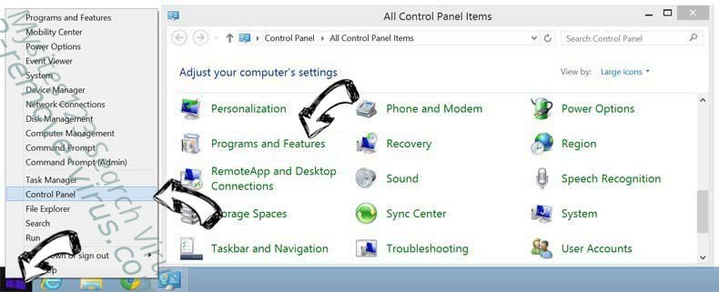 Delete ContentCleaner from Windows 8