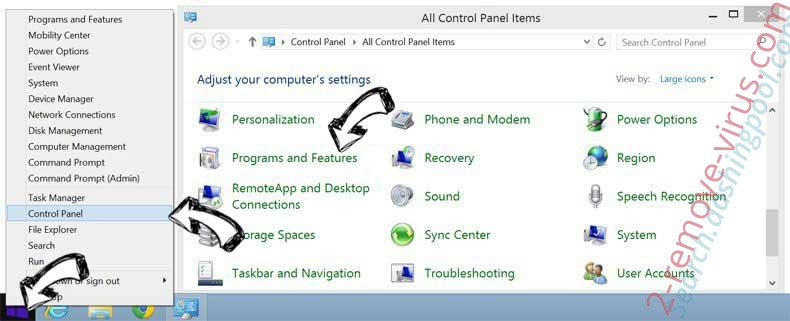 Delete FreeSearchConverter from Windows 8