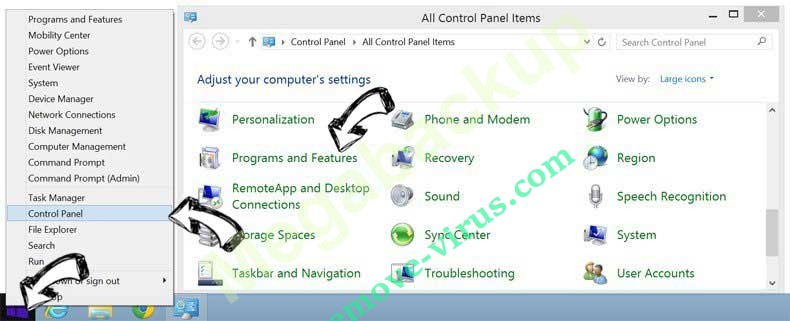 Delete cobalten.com virus from Windows 8