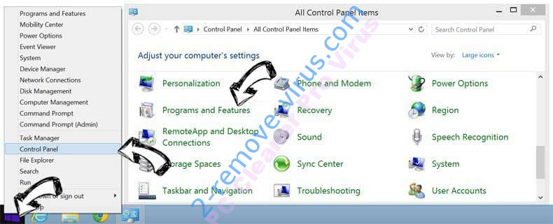Delete Funcy Web browser hijacker from Windows 8