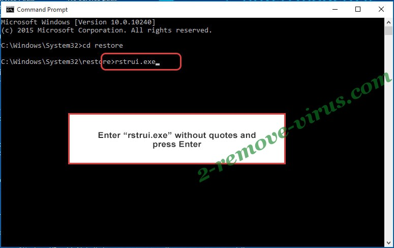 Delete .Promorad2 file virus - command prompt restore execute