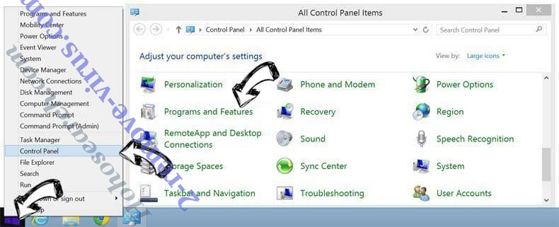 Delete Unisk-news1.online pop-up ads from Windows 8