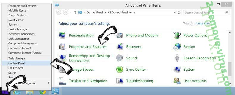 Delete Leddolettitor.info from Windows 8