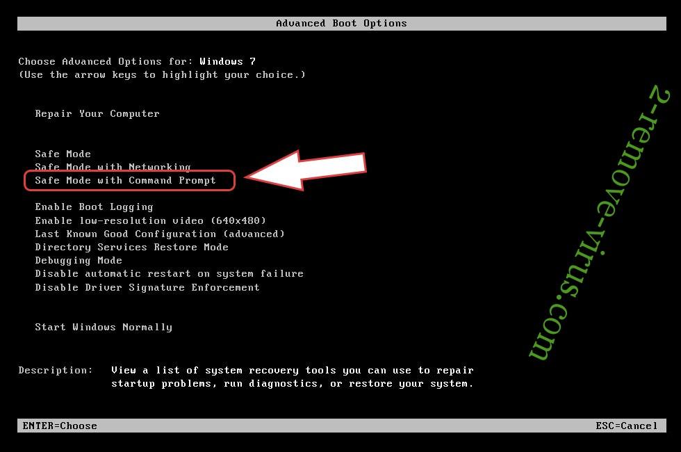 Remove Qlocker ransomware - boot options