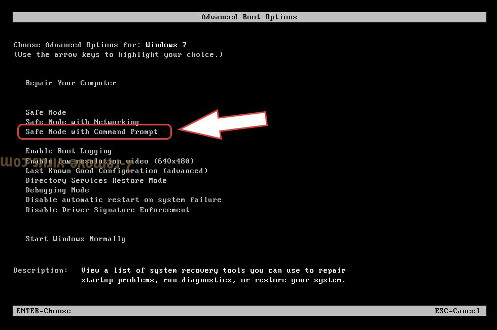 Remove Lookfornewitguy ransomware - boot options