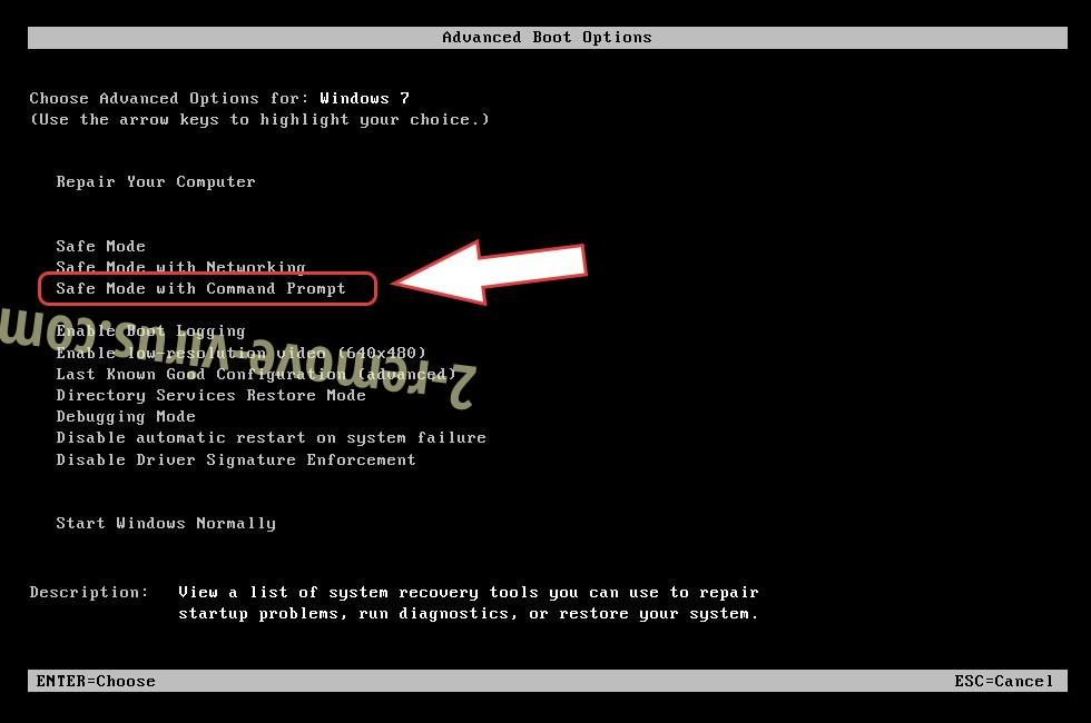 Remove FBI screenlocker Virus - boot options