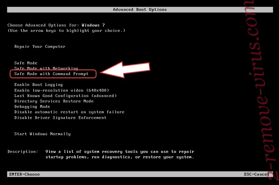 Remove Ielock ransomware - boot options