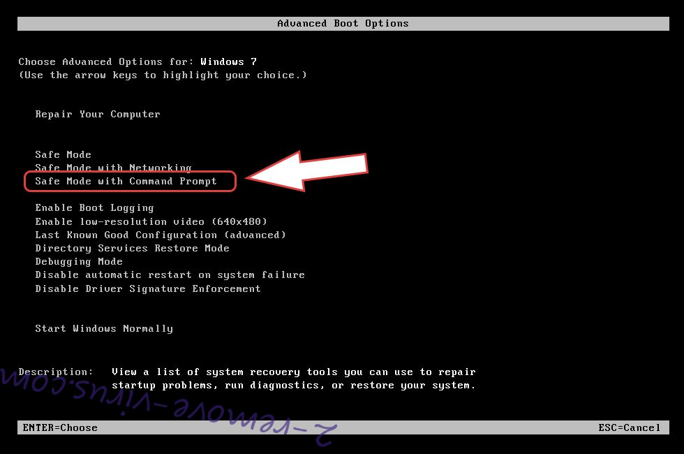 Remove .Dutan ransomware virus - boot options
