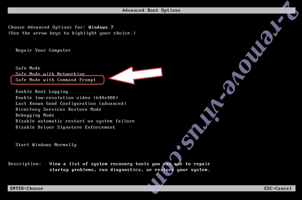 Remove BtcKING ransomware - boot options