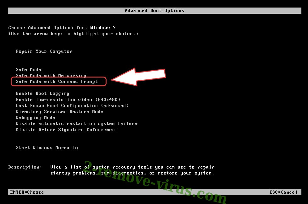 Remove Assasin Trojan - boot options