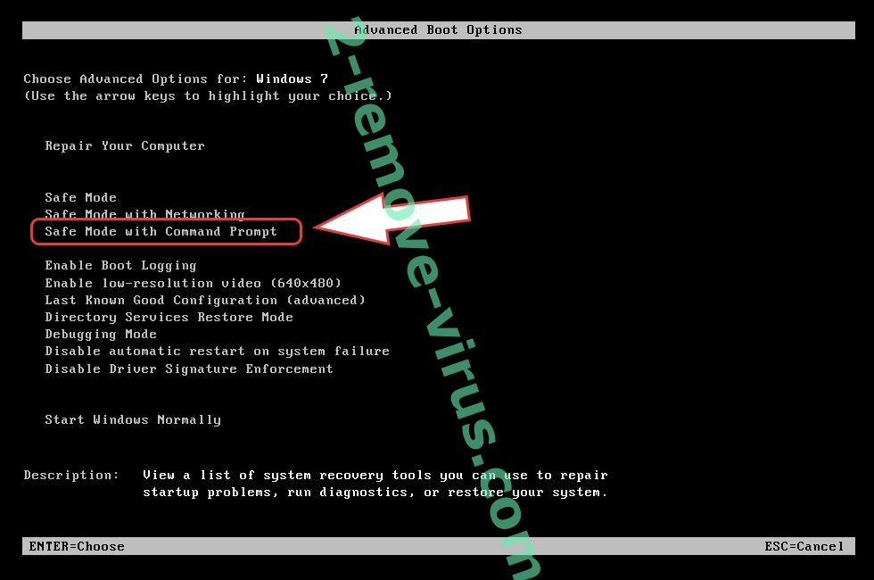 Remove .Zzla file ransomware - boot options