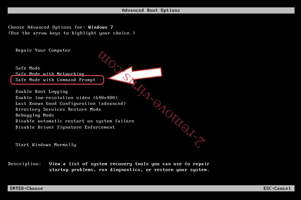 Remove Budak Ransomware - boot options