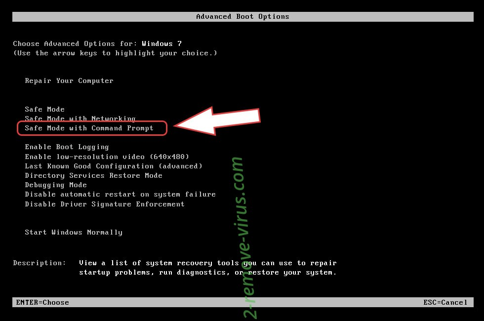Remove .Acute file virus - boot options