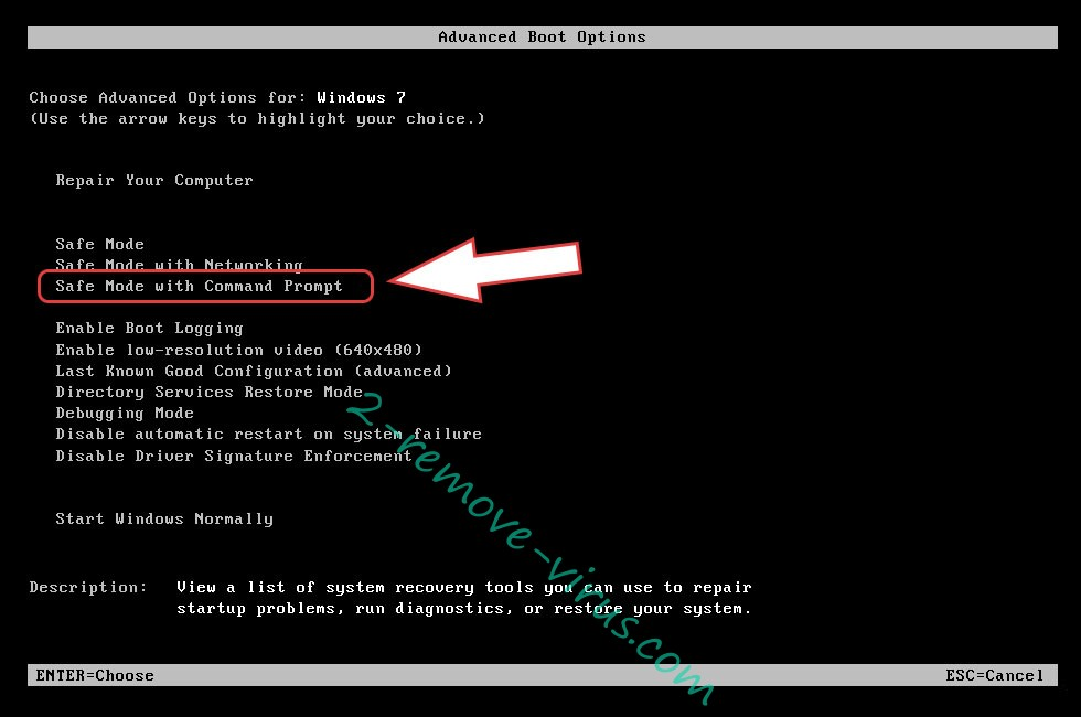 Remove NDAROD ransomware - boot options