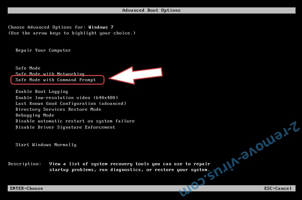 Remove Nelasod Ransomware - boot options