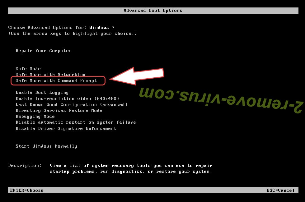 Remove CHRB ransomware - boot options