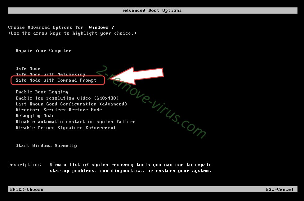 Remove .Verasto file virus - boot options