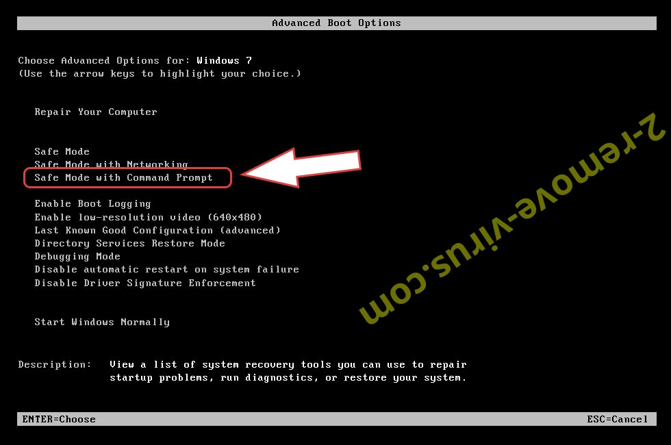 Remove .UGMH Files Ransomware - boot options