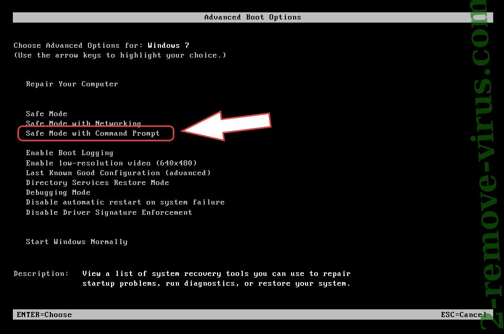 Remove .REHA file ransomware - boot options