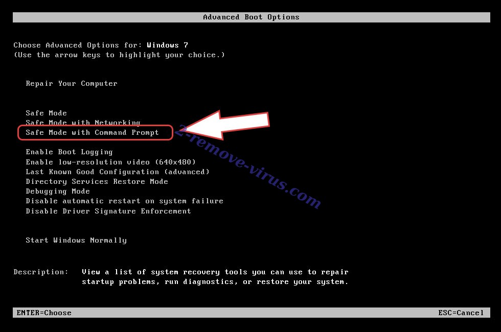 Remove ExecutorV3 ransomware - boot options