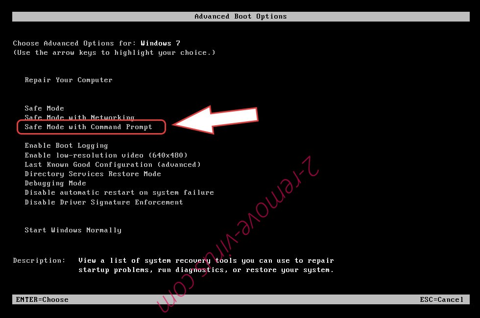 Remove .lr ransomware - boot options