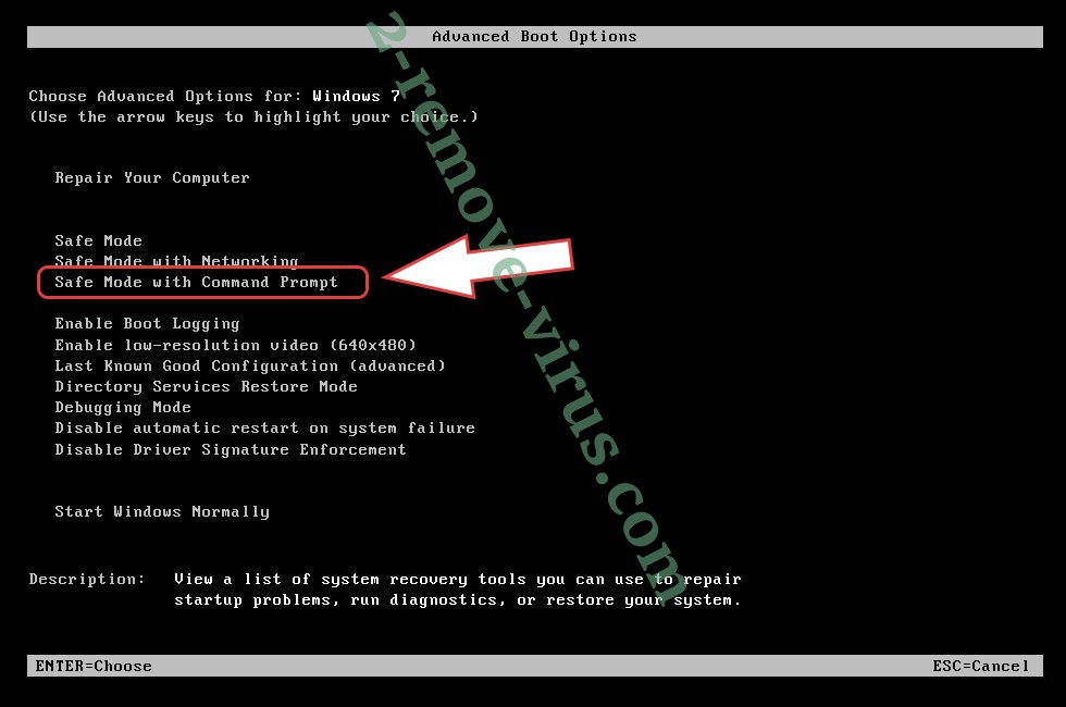 Remove .Nibiru Files Ransomware - boot options
