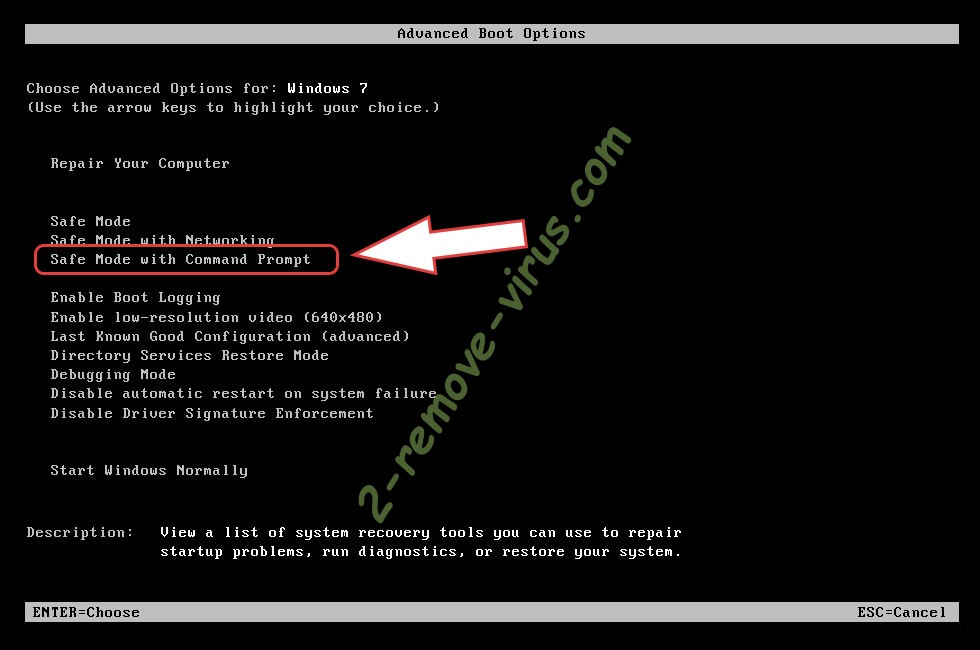 Remove .Dme ransomware - boot options