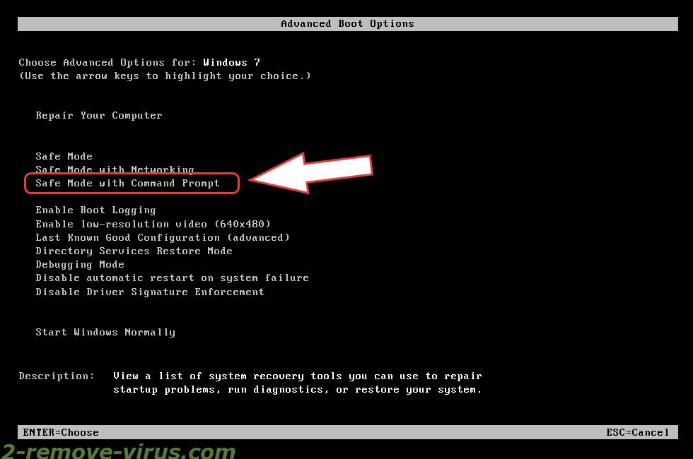 Remove .MERIN Files Ransomware - boot options