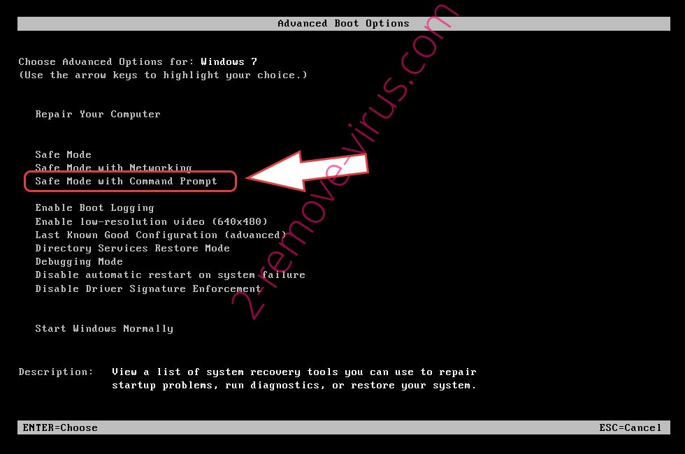 Remove .AnoymouS file ransomware - boot options