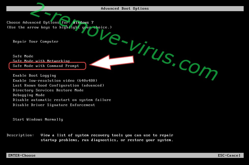 Remove RegretLocker ransomware - boot options