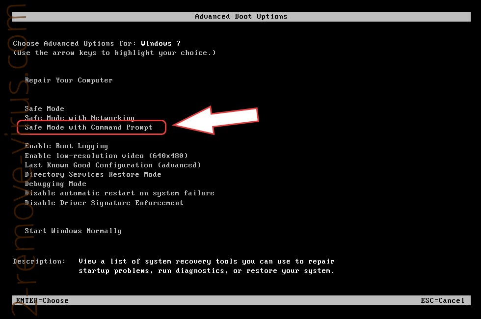 Remove CryptoLocker-v3 ransomware - boot options