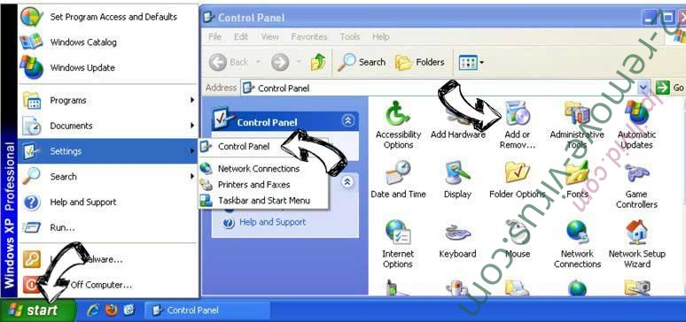 Remove Mycoolfeed.com from Windows XP