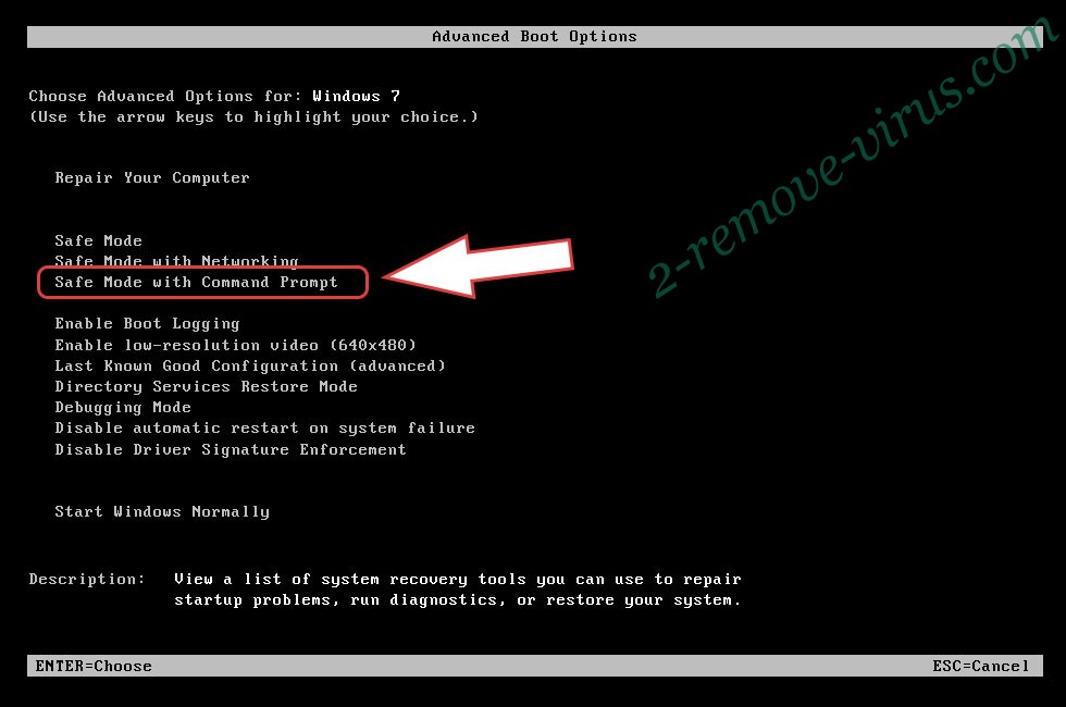 Remove Zimba ransomware - boot options