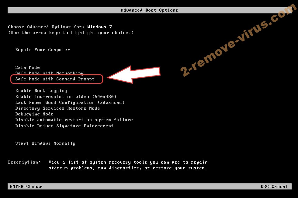 Remove DeathRansom ransomware - boot options