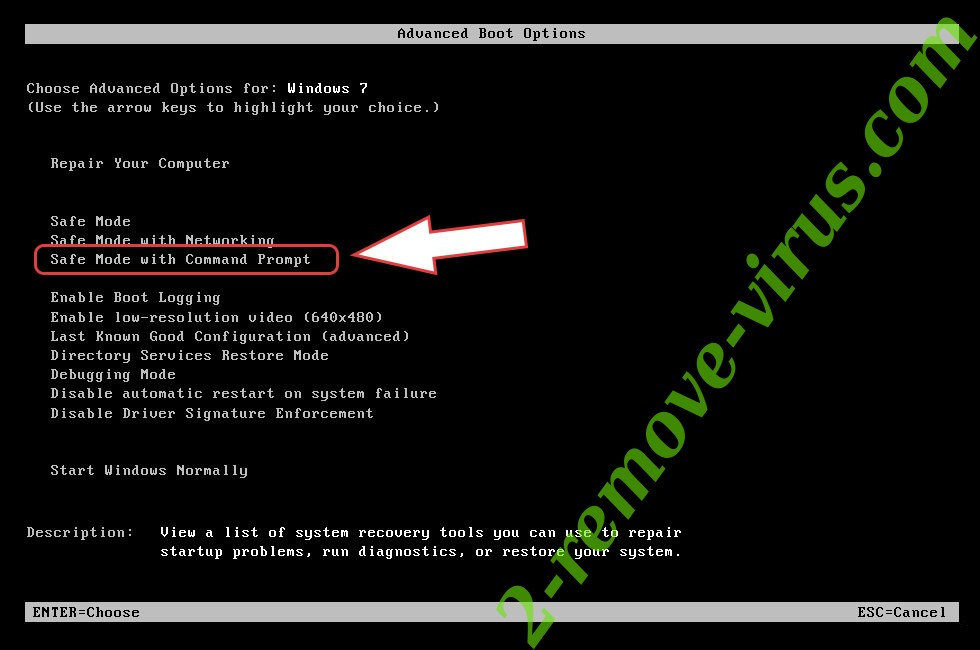 Remove Verwijderen REDROMAN ransomware - boot options