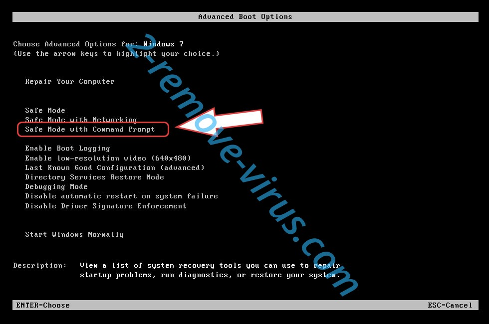 Remove .MK File Extension Virus - boot options